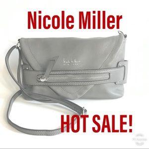 Nicole Miller gray shoulder cross body bag